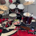 Selling with online payment: Ludwig Drum Kit, Pearl High Hat, pdp Double Bass Drum Pedal