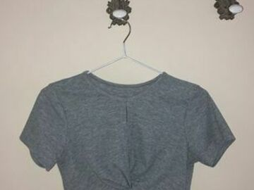 Selling without online payment: Grey Crop Top :)