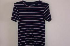 Selling without online payment: Blue Dress with Red and White Stripes :)