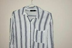 Selling without online payment: White Shirt with Black stripes :)