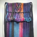 """Selling with online payment: Hand Woven Hand Dyed Peace Signs Bag 7""""x12"""" + 56"""""""