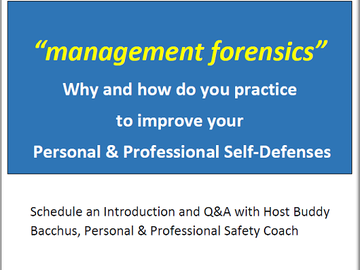 Coaching Session: Personal & Professional Self-Defense
