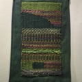 Selling with online payment: Hand Dyed Shoulder Bag with Hand Woven Applique in Greens