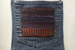 Selling with online payment: Denim Shoulder Bag with Hand Woven Tapestry Applique