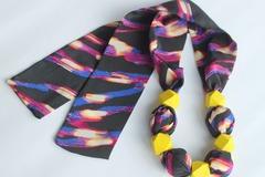 : Silk Scarf Necklace