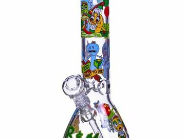 """Post Now: The Crazy Emotions - 12"""" Rick and Morty Inspired Beaker Bong Very"""