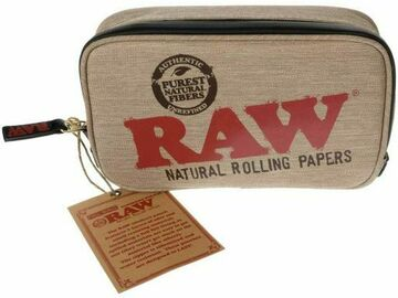 Post Now: Raw® - Smell Proof Smokers Pouch - Large (Quarter Pound)