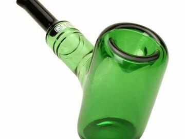 """Post Now: Grav® 6"""" Tankard Sherlock Hammer Handpipe - Green"""
