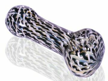 """Post Now: 3.5"""" Fumed hypnotic Glass Spoon Hand Pipe - Black"""