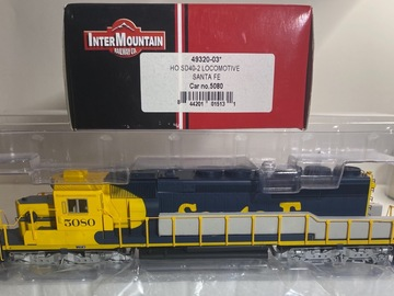 Selling with online payment: HO INTERMOUNTAIN 49320-03 SD40-2 LOCOMOTIVE SANTA FE 5080