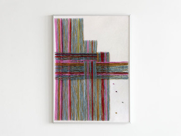 Selling : abstract textile art - Die passende Hälfte