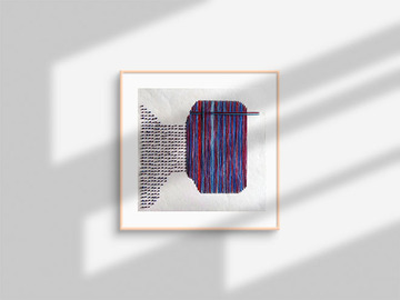 Selling : abstract textile art - untitled