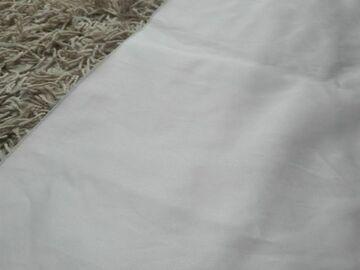 Ilmoitus: valkoinen satiinikangas 140cmx140cm