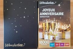 """Vente: Coffret Wonderbox """"Joyeux Anniversaire Sensation"""" (99,90€)"""