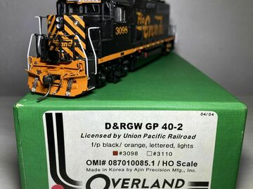 Selling with online payment: HO OVERLAND BRASS MODEL OMI 087010085.1 D&RGW GP 40-2 #3098