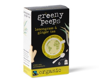Delivery: Lemongrass and Ginger Tea - Organic - 20 unbleached teabags
