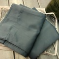For Sale: Blue Sateen Curtains