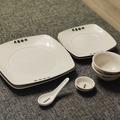 Myydään:  Asian tableware 10 piece set - plates, bowls, spoons
