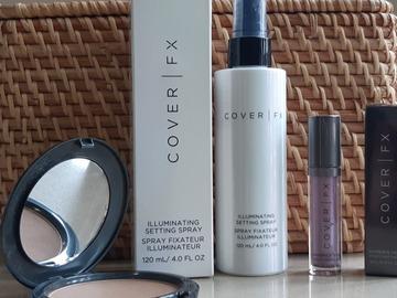 Venta: SET COVER FX: Iluminador líquido+ Bruma facial+Bronzer polvo
