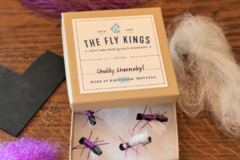 Selling with online payment: Purple Chubby Chernobyl Dry Flies (6 per unit)