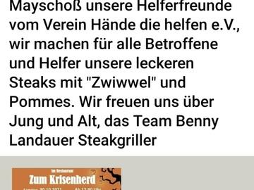 Biete Hilfe: Steakgriller Benny Landauer am 30.10.21 in Mayschoß