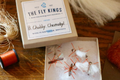 Selling with online payment: Brown Chubby Chernobyl Dry Flies (6 per unit)