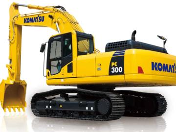 Renting out equipment (w/o operator): Komatosu PC 300