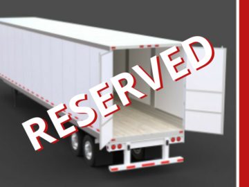Repositioning with Rental Opportunity: Hermiston, OR:  (4 LEFT) Dry Van Trailers -- REPOSITIONING W/ REN