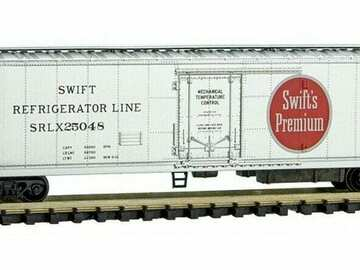 Selling with online payment: MICRO-TRAINS  51' RIVET SIDE REEFER, SWIFT LINE