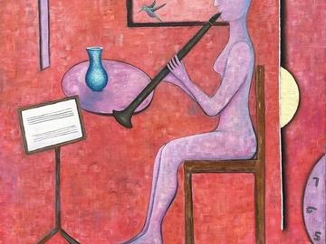 Sell Artworks: Etude With Hummingbird