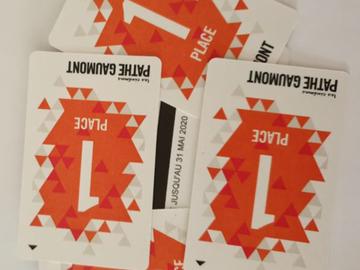 Vente: 5 places de cinéma GAUMONT-PATHE (67€)