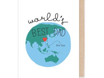 : World's Best Dad Card