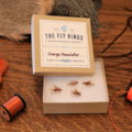 Selling with online payment: Orange Stimulator Dry Flies (6 per unit)