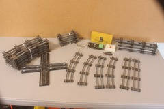 Selling with online payment: S gauge track lot good to fair condition Lot TK-19