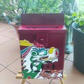 : Mailbox Dragon boat and waves and garance background