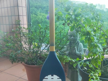 : Decorative Paddle/Oar - Double hapiness. Blue