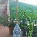 : Decorative Paddle/Oar - Double hapiness, flowers. Porcelaine