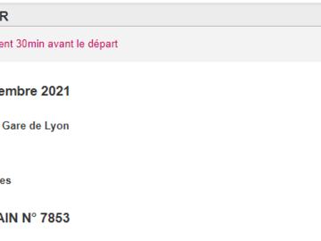 Vente: Billet TGV - Aller-retour Paris-Cannes (82€)