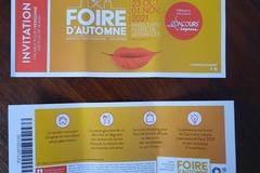 Offre: Invitations Foire d'automne