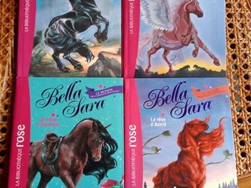 "Vente: Lot de 4 ""Bella Sara"" - Bibliothèque rose - 8/10 ans"