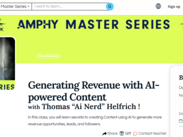 Make a post: Master Class - Create Revenue From Content