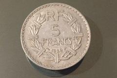 Troc: Pièce de 5 francs ancienne - 1949