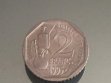 Vente: Monnaie de collection - pièces 2 francs Louis pasteur 1995