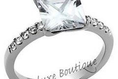 Selling: 192 Unit of 18K Silver Plated Cubic Zirconia Rings