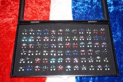 Sell: 216- 925 Stamped Crystal Fashion Rings & Earrings Ships Free
