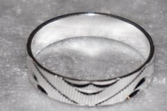 Sell: 72- Stamped Eternity Bands In Glass Top Case Free shipping