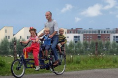 Tandem bicycle rental: Miete ein Familien Tandem  in Berlin incl. Hollandrad