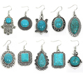 Buy Now: (200) Simulated Turquoise Earrings Wholesale Jewelries Mixed