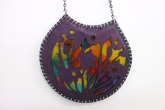 Selling: Handmade leather and aluminum necklaces