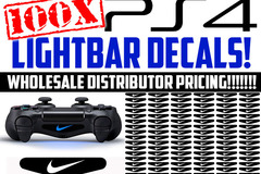 Selling: 100 PS4 CONTROLLER LIGHTBAR  DECALS WHOLESALE PRICING